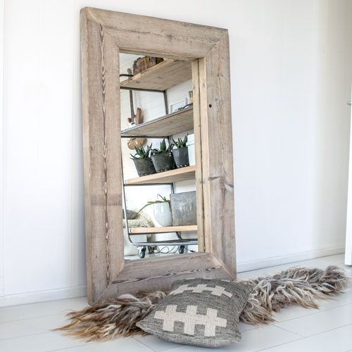 Houten spiegel oude grote franse houten spiegel with for Houten spiegel